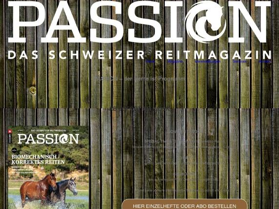 Screenshot von passion-magazin.ch
